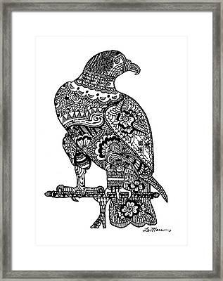 Falcon Framed Print by Lamarr Kramer