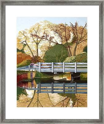 Fall Drive Framed Print by Jennifer  Donald