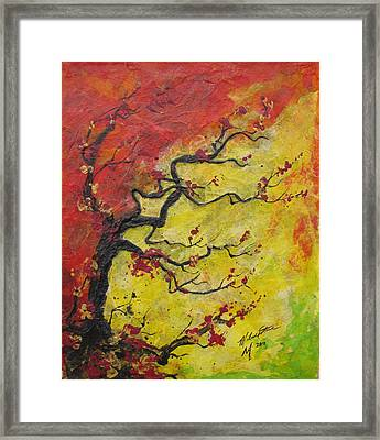 Fall Flame Framed Print