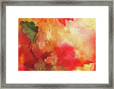 Fall Impressions  Framed Print