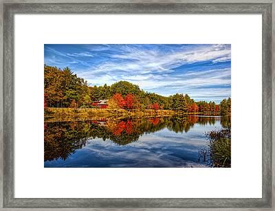 Fall In New England Framed Print by Bennie Thornton