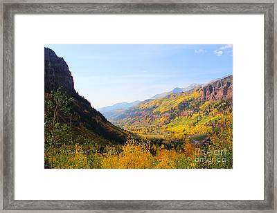 Fall In Telluride Framed Print