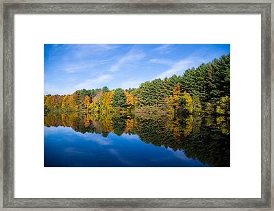Fall Reflects Framed Print