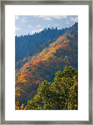 Fall Smoky Mountains Framed Print by Melinda Fawver