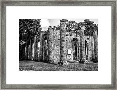 Fallen Church Framed Print by Steven  Taylor