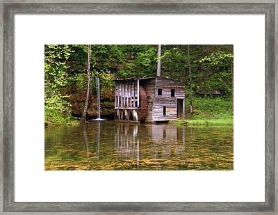 Falling Spring Mill  Framed Print by Marty Koch