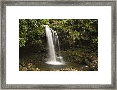 Falling Water Framed Print by Andrew Soundarajan