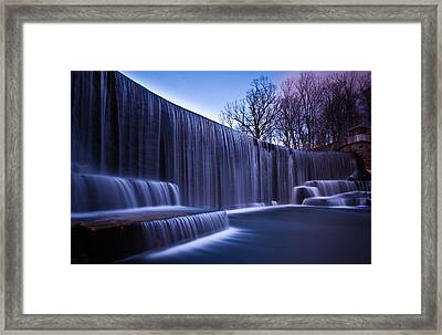 Framed Print featuring the photograph Falling Water by Mihai Andritoiu