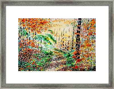 Framed Print featuring the painting Falls Melody  by Alfred Motzer