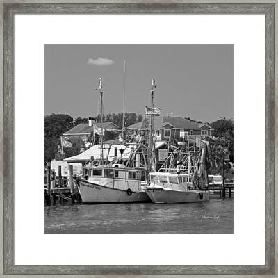 Family Thing - Black And White Framed Print by Suzanne Gaff