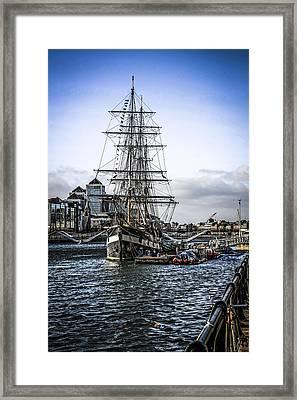 Famine Ship Framed Print