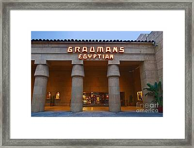 Famous Egyptian Theater In Hollywood California. Framed Print