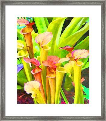 Fantasy Flowers 9 Framed Print by Margaret Saheed