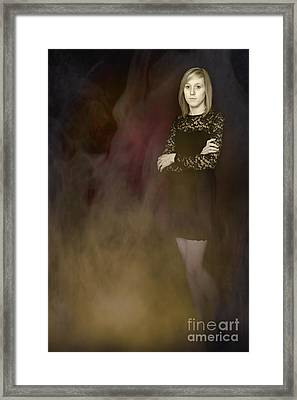 Fantasy Portrait Framed Print by Amanda Elwell