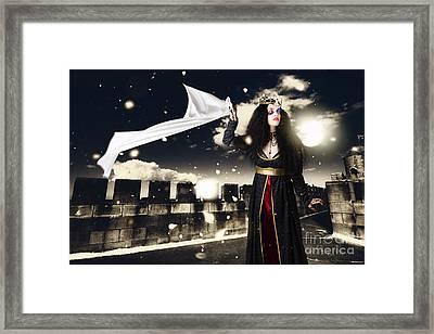 Fantasy Princess Awaiting Prince Charming Rescue Framed Print