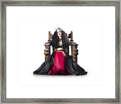 Fantasy Queen On Throne Framed Print