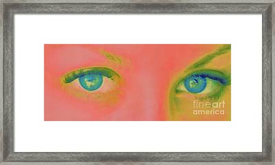 Framed Print featuring the painting Far Away Eyes by Janice Westerberg