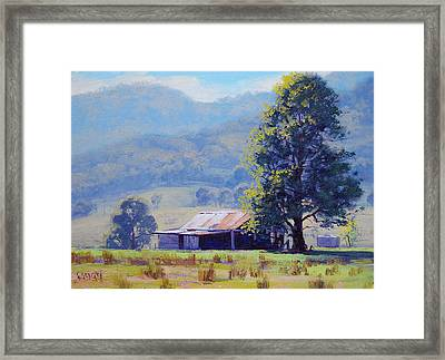 Farm Shed Framed Print by Graham Gercken