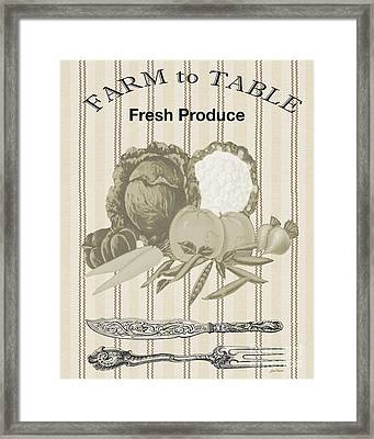 Farm To Table-jp2124 Framed Print by Jean Plout