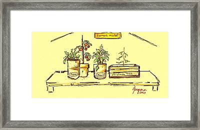 Farmer's Market Botanical Section Framed Print by Patricia Awapara
