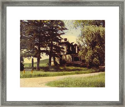 Farmhouse Landscape Framed Print by Robert Floyd