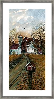 Farmhouse Mailbox Framed Print by Steven Schultz