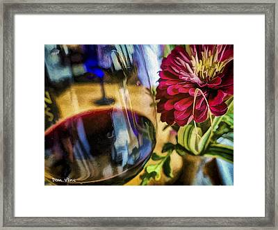 Farmhouse Red And A Zinnia Framed Print