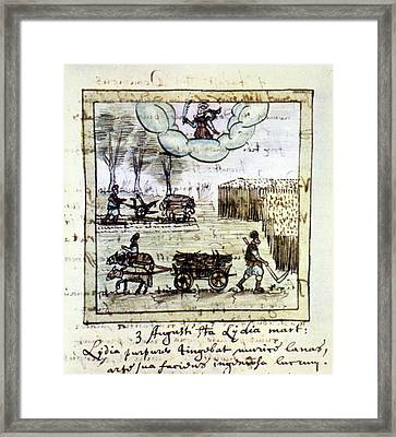 Farming, 17th Century Framed Print by Granger