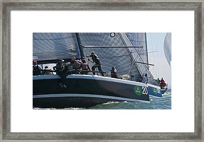 Farr 40 Action Framed Print by Steven Lapkin