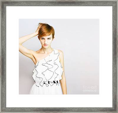 Fashion Copyspace Framed Print by Jorgo Photography - Wall Art Gallery