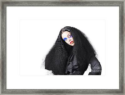 Fashion Model In Black Framed Print by Jorgo Photography - Wall Art Gallery