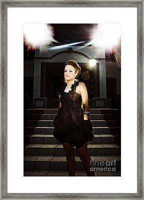 Fashion Model On Steps Framed Print by Jorgo Photography - Wall Art Gallery