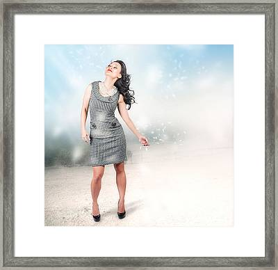 Fashion Photo. Beauty In Nature Framed Print by Jorgo Photography - Wall Art Gallery
