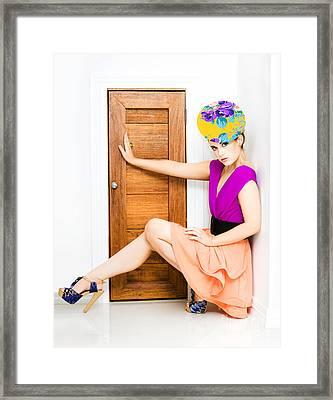 Fashion Police Blocking Doorway Framed Print