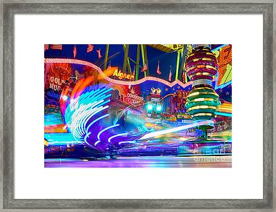 Fast Ride At The Octoberfest In Munich Framed Print