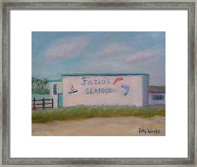 Fazios Seafood In St Augustine Florida Framed Print