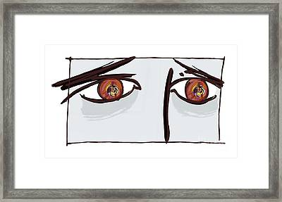 Fearful Eyes, Artwork Framed Print