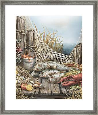 Feast Framed Print by Beverly Levi-Parker