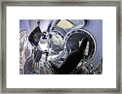 Felix Baumgartner Jumping From Capsule Framed Print