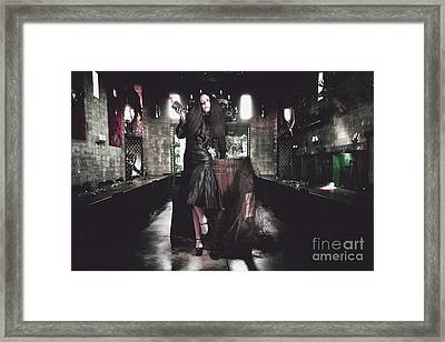 Female Event Jester At Grand Middle Ages Feast Framed Print
