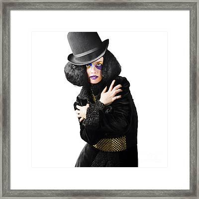 Female High Fashion Model Framed Print by Jorgo Photography - Wall Art Gallery