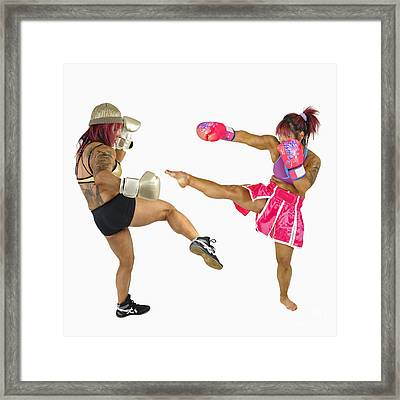 Female Kick Boxer  Framed Print