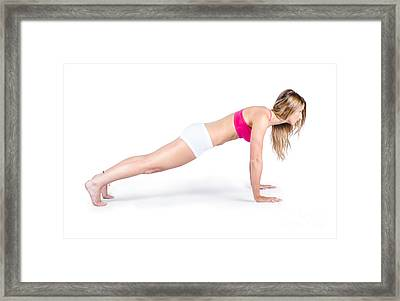 Female Yoga Instructor Framed Print by Jorgo Photography - Wall Art Gallery