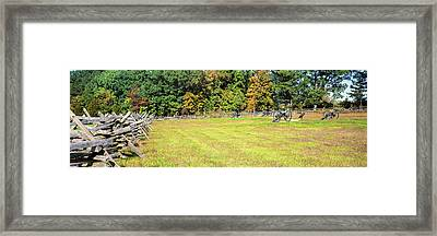 Fence At Gettysburg National Military Framed Print