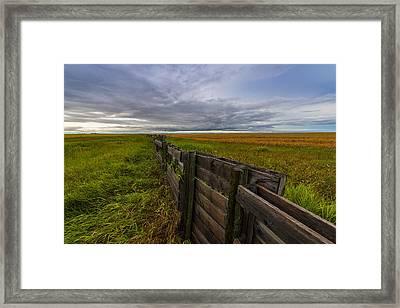 Fence Landscape Framed Print