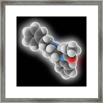 Fentanyl Drug Molecule Framed Print by Laguna Design