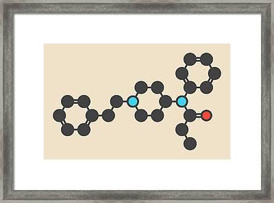 Fentanyl Opioid Analgesic Drug Molecule Framed Print