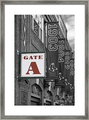 Fenway Park Gate A Framed Print by Jerry Fornarotto