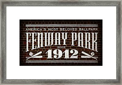 Fenway Park Framed Print by Stephen Stookey