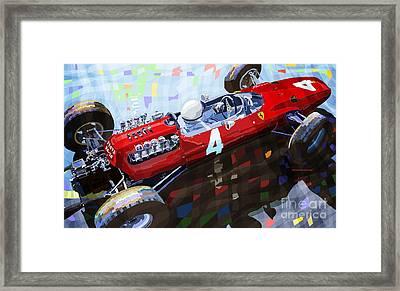 1965 Ferrari 158 F1 Dutch Gp Lorenzo Bondini Framed Print by Yuriy  Shevchuk